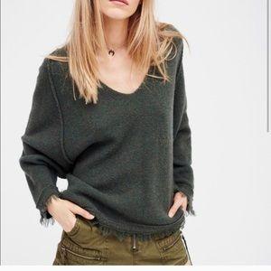 Free People Hunter Green Sweater